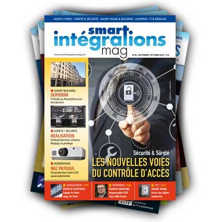 Smart Intégrations Mag, Audio, Vidéo, Sécurité, Smart Building et Réseaux – Abonnement magazine papier Num 36