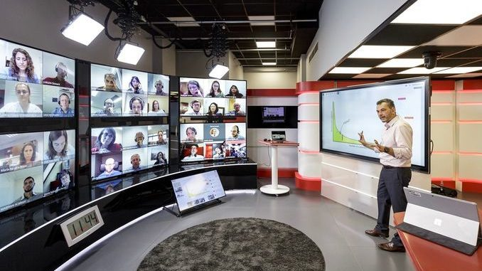 Smart Intégrations Mag, Audio, Vidéo, Sécurité, Smart Building et Réseaux - Salle de cours virtuelle de lESE Business School de Barcelone