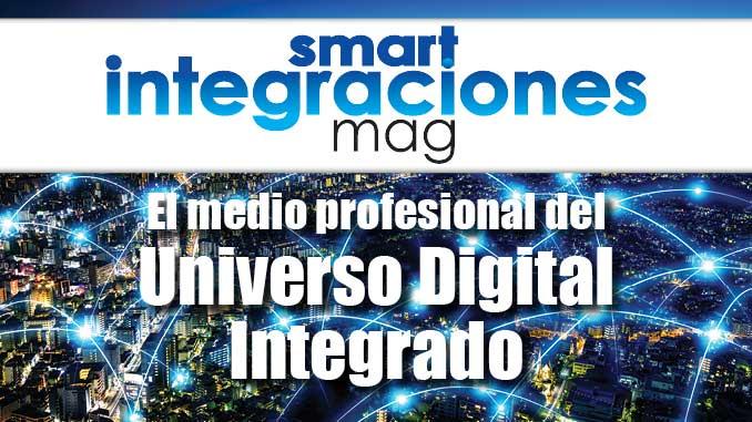 """Smart Intégrations Mag, Audio, Vidéo, Sécurité, Smart Building et Réseaux – Visuel """"Smart Integraciones Mag""""."""