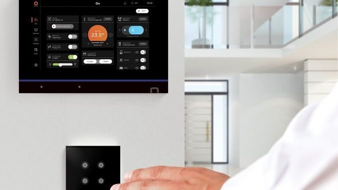 Smart Intégrations Mag - Smart Home - Ecran Do Touch et interrupteur tactile Do Tatto de la solution Dovit.